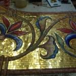 Золотые смальтовые фоны