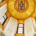 Золотая смальта в мозаиках Дивеево